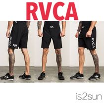 RVCA Printed Pants Street Style Collaboration Plain Cotton Shorts