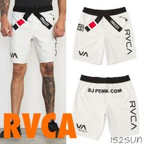 RVCA Printed Pants Street Style Collaboration Plain Shorts