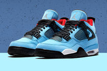 Nike AIR JORDAN 4 Suede Blended Fabrics Street Style Collaboration Sneakers