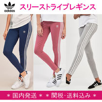 adidas Stripes Casual Style Street Style Plain Cotton Long Bottoms