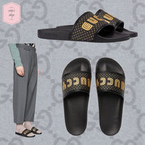 GUCCI Star Blended Fabrics Street Style Leather Shower Shoes