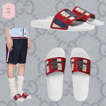 GUCCI Stripes Street Style Shower Shoes Shower Sandals