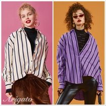 ELF SACK Stripes Casual Style Street Style Long Sleeves Medium