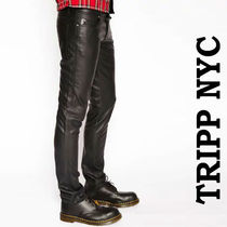 TRIPP NYC Unisex Faux Fur Street Style Plain Skinny Fit Pants