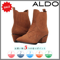 ALDO Casual Style Leather Chunky Heels Ankle & Booties Boots