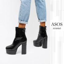 ASOS Platform Round Toe Faux Fur Other Animal Patterns