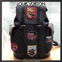 Louis Vuitton DAMIER GRAPHITE Other Check Patterns Unisex Canvas A4 Backpacks