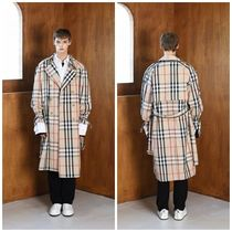 Other Check Patterns Trench Coats
