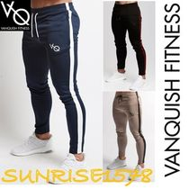 Tapered Pants Stripes Sweat Street Style Tapered Pants