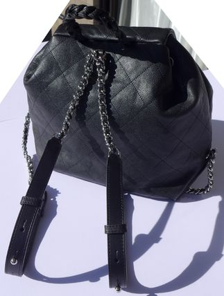 CHANEL Backpacks Casual Style Leather Backpacks 6