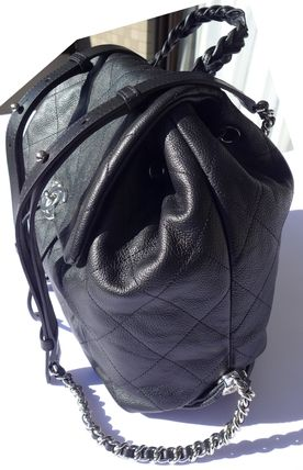CHANEL Backpacks Casual Style Leather Backpacks 8