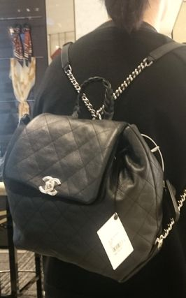 CHANEL Backpacks Casual Style Leather Backpacks 17