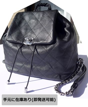 CHANEL Backpacks Casual Style Leather Backpacks