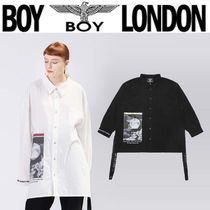 BOY LONDON Casual Style Unisex Street Style Long Sleeves