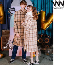 WV PROJECT Glen Patterns Unisex Street Style Collaboration Long Coats