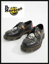 Dr Martens Platform Round Toe Lace-up Casual Style Unisex Studded
