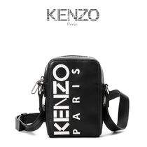 KENZO Unisex Plain Leather Messenger & Shoulder Bags