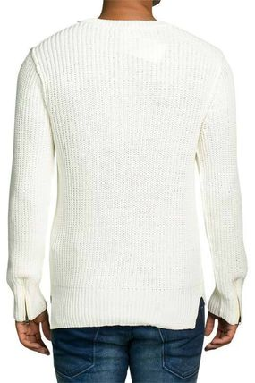 Scotch & Soda Knits & Sweaters Crew Neck Pullovers Street Style Cropped Plain Cotton 3