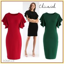 Chicwish Short Tight U-Neck Plain Short Sleeves Party Style Dresses
