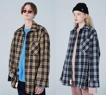 Wai Kei Other Check Patterns Casual Style Unisex Wool Street Style