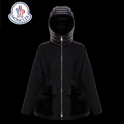 4ec0c13e9 MONCLER 2018-19AW Wool Plain Medium Elegant Style Down Jackets by ...