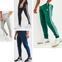 adidas Stripes Street Style Cotton Joggers & Sweatpants