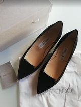 Jimmy Choo Suede Plain Slip-On Shoes