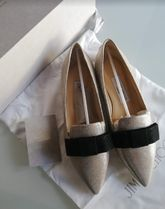 Jimmy Choo Plain Leather Pointed Toe Shoes