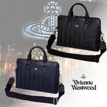 Vivienne Westwood Stripes PVC Clothing Business & Briefcases