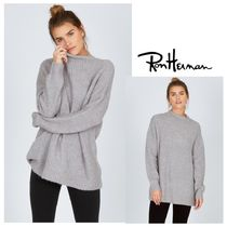 Ron Herman Cable Knit Casual Style Nylon Blended Fabrics Long Sleeves