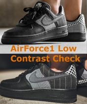 Force Airforce1 Top Sneakersat0062 Contrast Nike 1 19aw 001 Air Low 2018 Check kn0OwP