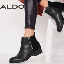 ALDO Plain Toe Casual Style Bi-color Plain Leather Oversized