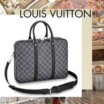 Louis Vuitton DAMIER GRAPHITE Other Check Patterns Canvas A4 2WAY Business & Briefcases