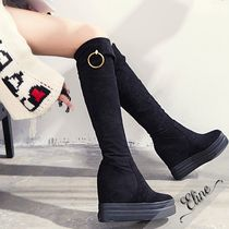 Wedge Round Toe Casual Style Suede Plain Wedge Boots