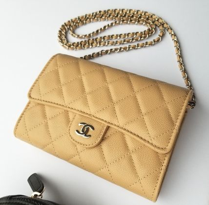 CHANEL Shoulder Bags Casual Style 3WAY Chain Leather Shoulder Bags 2