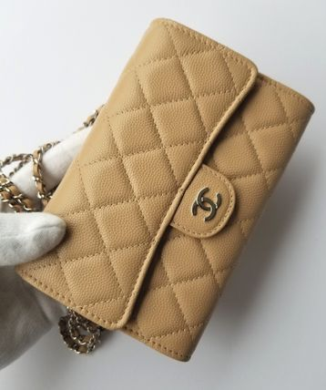 CHANEL Shoulder Bags Casual Style 3WAY Chain Leather Shoulder Bags 3