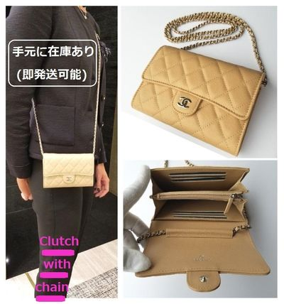 Casual Style 3WAY Chain Leather Shoulder Bags