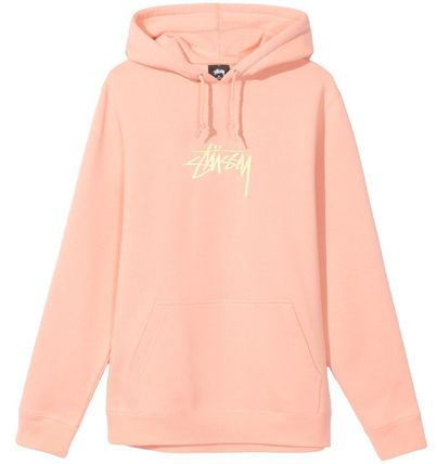 STUSSY Hoodies Pullovers Street Style Long Sleeves Plain Cotton Oversized 8