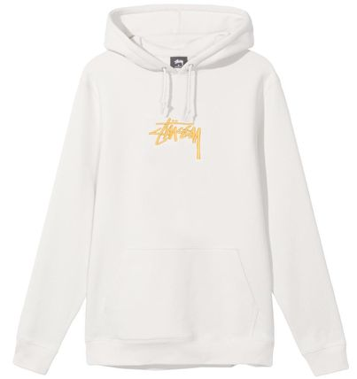 STUSSY Hoodies Pullovers Street Style Long Sleeves Plain Cotton Oversized 9