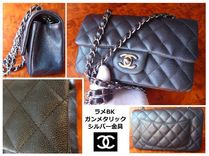 CHANEL TIMELESS CLASSICS Casual Style Chain Leather Shoulder Bags