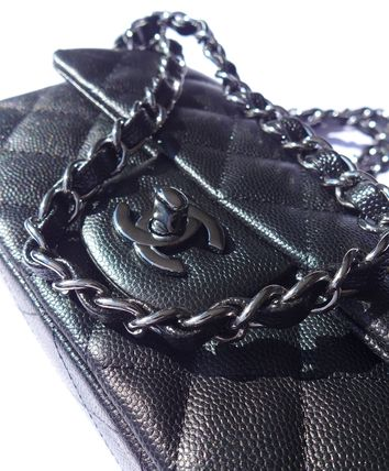 CHANEL Shoulder Bags Casual Style Chain Leather Shoulder Bags 3