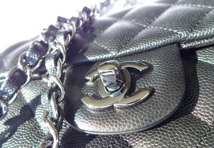CHANEL Shoulder Bags Casual Style Chain Leather Shoulder Bags 4