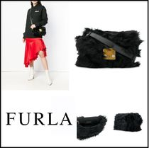FURLA Casual Style Fur Street Style Home Party Ideas Shoulder Bags