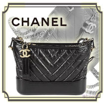 CHANEL Calfskin 3WAY Chain Plain Elegant Style Shoulder Bags