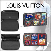 Louis Vuitton ZIPPY ORGANISER Blended Fabrics Street Style Passport Cases