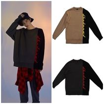DBYDGNAK Unisex Street Style Long Sleeves Oversized Knits & Sweaters