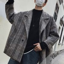 Short Other Check Patterns Wool Street Style Oversized