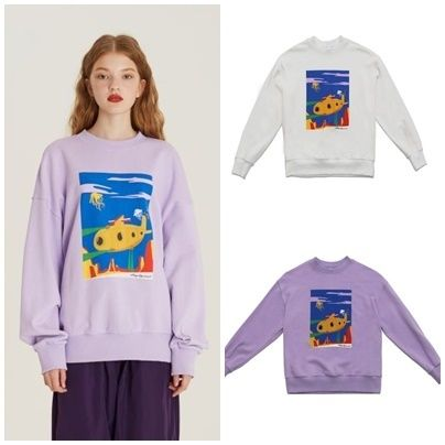Casual Style Unisex Street Style Long Sleeves Cotton