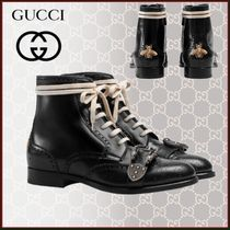 GUCCI Dionysus Wing Tip Blended Fabrics Studded Street Style Plain