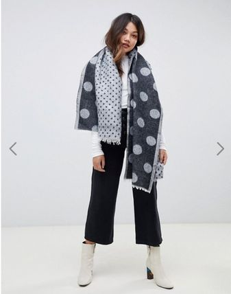 Dots Casual Style Lightweight Scarves & Shawls